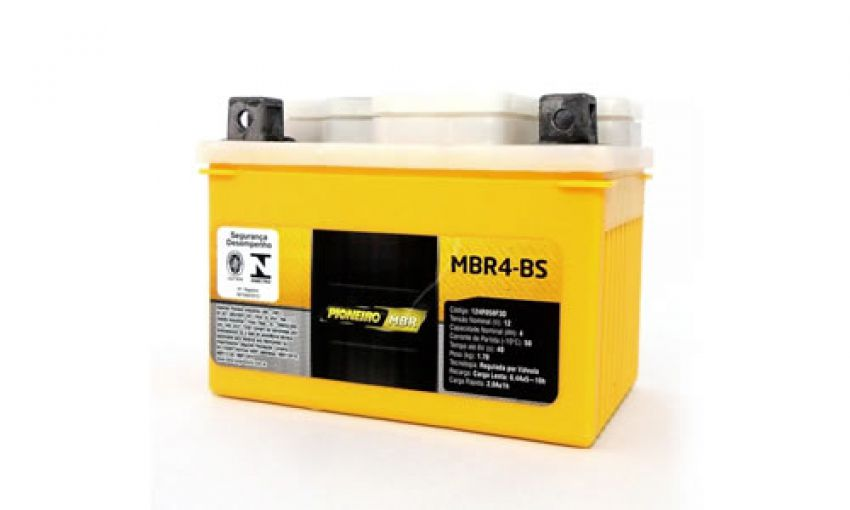 Bateria Moto Pioneiro Mbr4-bs
